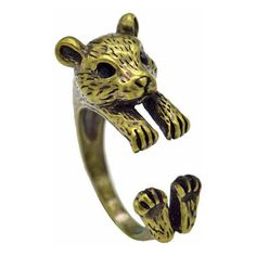 FREE shipping worldwide. Hamster Ring Adjustable golden ($11) ❤ liked on Polyvore featuring jewelry, rings, golden ring, golden jewellery, adjustable rings and golden jewelry
