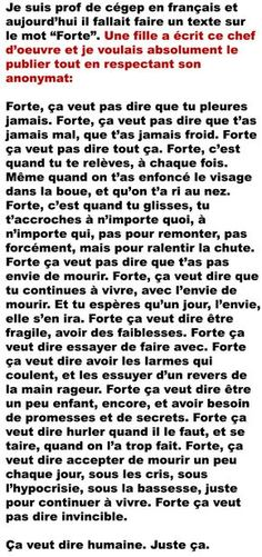 Ça me fait penser à toi... Mots Forts, Deep Texts, French Quotes, Bad Mood, Life Lessons, Wise Words, Decir No, Me Quotes, Affirmations