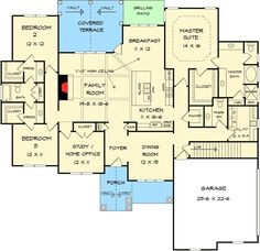 Split Bedroom Craftsman House Plan - 36073DK   1st Floor Master Suite, CAD Available, Corner Lot, Craftsman, PDF, Photo Gallery, Traditional   Architectural Designs