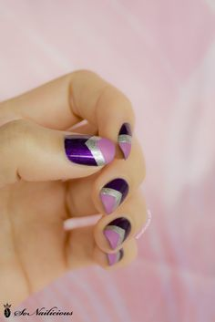 pretty purple nails #manicure #nailart