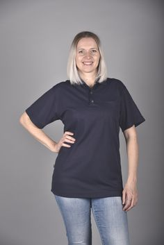 In 17 Farben erhältlich Cotton Club, Polo Shirt, Athletic, Zip, Navy, Jackets, Shirts, Fashion, Professional Wear