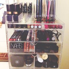 Makeup organization container.