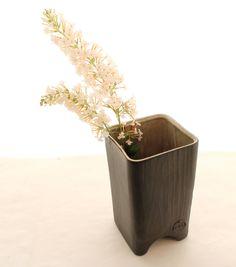 Faux Bois Vase- Matte Black
