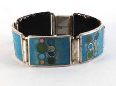 Cloisonné enamel bracelet by Perli Werkstatte