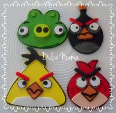 Cookies Angry Birds www.facebook.com/dulcenormareposteria