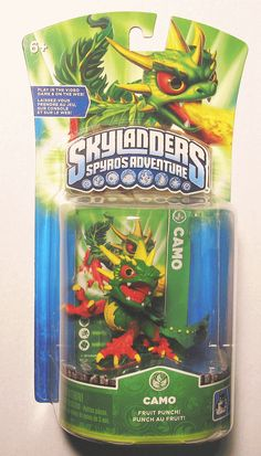 NEW Skylanders CAMO Spyros Adventure Action Figure SEALED IN PACKAGE Retired! First version of this figure! #Skylanders #Cyberontix