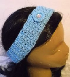 This is a handmade headband in my Stylin Snaps Collection, a mix and match collection of hats, headbands and attachments.  See how the collection works on my blog http://handmadebydroxy.com/introducin