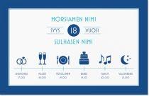 infographic kuvakkeet Kutsukortit & Ilmoitukset