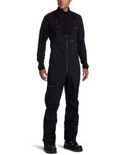 Marmot Men's Alpinist Bib, Black, Large by Marmot. $384.97. The Alpinist is no stranger to mountain travel. With three-layer GORE-TEX Pro fabric that's micro-stitched and 100% seam taped, the weather-shielding pants have you covered during flurries. Stretchy softshell torso with adjustable suspenders is super breathable; zip front fly and bib drop seat minimize downtime. Internal gaiters with gripper elastic seal out snow.