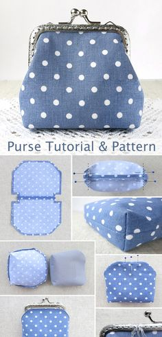 Small Sewing Projects, Sewing Projects For Beginners, Sewing Tutorials, Diy Bags Patterns, Sewing Patterns, Coin Purse Tutorial, Coin Purse Pattern, Diy Bags Purses, Fabric Stamping
