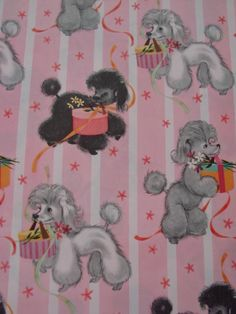 Precious Poodles Poodle Drawing, Happy Birthday Vintage, Vintage Wrapping Paper, Kewpie, Oui Oui, Vintage Greeting Cards, Dog Photos, Dog Art, Animals And Pets