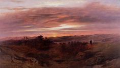 Solitude by John Martin, 1843. From the collection of the Laing Art Gallery in Newcastle upon Tyne.