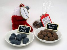 Who's on your naughty list?  Lumps of Coal that smells like licorice or Reindeer Poop that smells like the forest is the perfect gag gift or White Elephant Gift!!