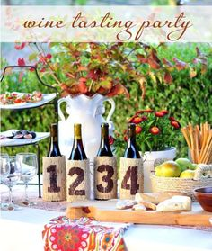 Wine Tasting Party - Fun idea for a 50th birthday party