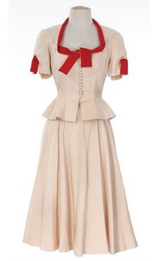 """Worn by Joan Bennett as """"Ellie Banks"""" during the baby shower in Father's Little Dividend."""