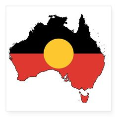 Australia Aboriginal Flag M Square Sticker x for Aboriginal Flag, Aboriginal Culture, Aboriginal People, Australian Aboriginal History, Imaginative Writing, Australian Aboriginals, Life Is Precious, Australia Map, Car Bumper Stickers