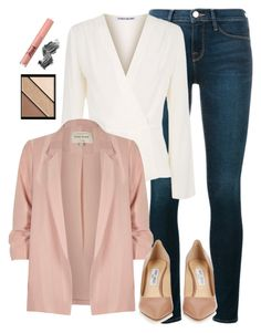 """""""Untitled #644"""" by folledicolagiocattoli ❤ liked on Polyvore featuring Frame, Elizabeth and James, River Island, Jimmy Choo, Elizabeth Arden, Too Faced Cosmetics and Illamasqua"""