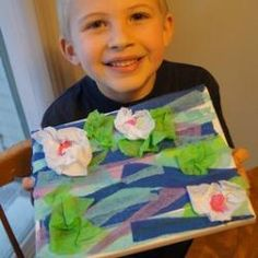 monet--with tissue paper