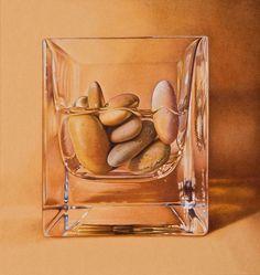 graphite drawings, colored pencil, stones, still-life, landscape, Massachusetts artist   D. L. Friedman