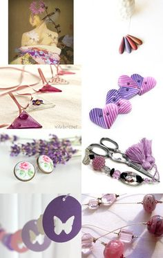Purple with a hint of Pink by Linda Karen on Etsy--Pinned with TreasuryPin.com