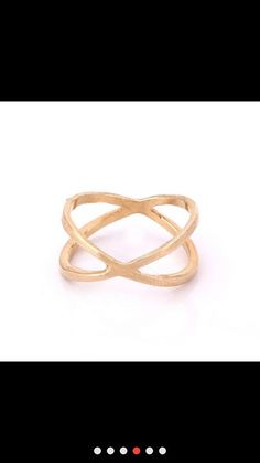 Dainty x Cross Ring in Gold, Silver, plated over Brass size 6.5