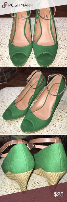 Green Worthington Wedges with Strap Green Worthington Wedges with Strap Worthington Shoes Wedges
