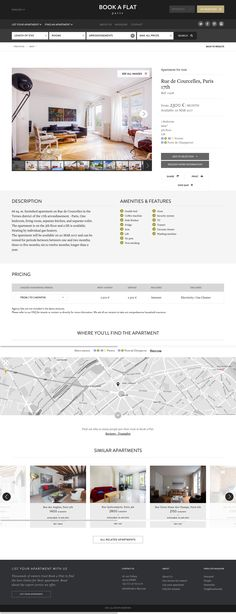 Book-A-Flat has the widest selection of rental apartments in Paris. Web Design, Design Trends, Logo Design, Graphic Design, Paris Apartments, Rental Apartments, Hotel Sites, Furnished Apartment, Interactive Design