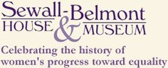 home page of the Sewall-Belmont House & Museum in Washington DC - HQ of Alice Paul's National Women's Party - close to the Capitol, it hosted women workers from all over the US who were in the capital to demonstrate for suffrage.