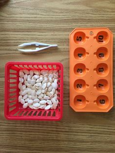 This listing offers variety trays to choose from as well as complete pumpkin seed counting set* pictured which Includes: pumpkin tray with numbers, tweezers (only purple color in stock) and pumpkin se