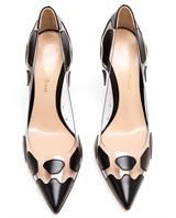 GIANVITO ROSSI | Spotted Leather and Perspex Pointed High Heels | Browns fashion & designer clothes & clothing