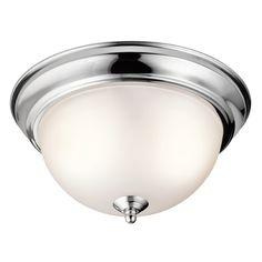 Kichler Lighting Chrome Flushmount Light   8111CH   Destination Lighting