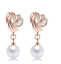 Roxi Austrian Crystal Pearl Earrings price, review and buy in Saudi Arabia…
