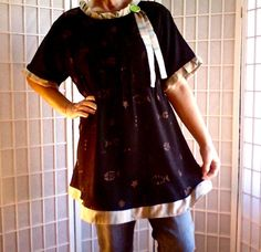 80 Shabby Chic Large Lolita Bold UpCycled Women's by ArtzWear