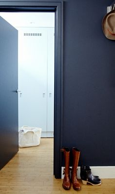 Christine Chang Hanway London Home, Unexpected Storage in Hidden Laundry Room, Photo by Kristin Perers