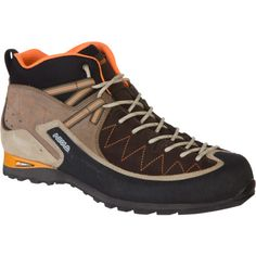 The mid-height Asolo Jumla Hiking Boot effectively bridges the gap between an old-school hiking boot and modern trail running shoe, making it ideal for everything from steep approaches to multi-day backpacking trips. The PU anti-shock system in the heel absorbs the sting of rough terrain while the Vibram Friction rubber ensures secure traction wherever you roam.