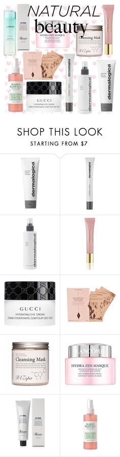 """""""Natural Beauty"""" by maryamsaeed1 ❤ liked on Polyvore featuring beauty, Dermalogica, AERIN, Gucci, Lancôme, Baxter of California and Laneige"""