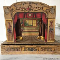 PUPPET THEATRE original handmade from CZECH REPUBLIC 4 stages