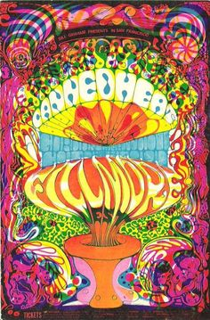 Canned Heat Fillmore West 1968 original concert poster Lee Conklin Tea Lautrec Bill Graham San Francisco. Psychedelic Rock, Psychedelic Posters, Hippie Posters, Kunst Poster, Poster S, Rock Posters, Band Posters, Music Posters, Vintage Concert Posters