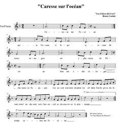 """Partitura 1 """" Carrese sour l´ocean #Partitura #flautadulce #loschicosdelcoro"""