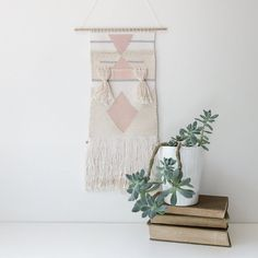 handwoven wall hanging tapestry weaving by oh, albatross