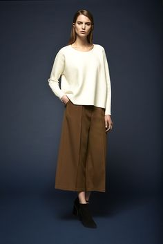 Milau knitted sweater and Jagger culottte http://www.dante6.com