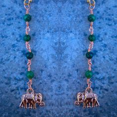 SAFARI // Gold Fill African Jade Rosary Bead Chain by ShopParadigm, $48.00