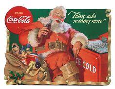 1941 Coca-Cola Santa Claus Thirst Asks Nothing More Cutout