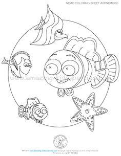 Nemo, Dory & Friends Coloring Sheet