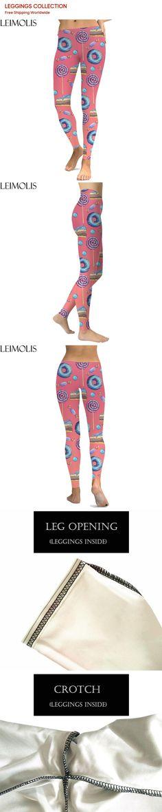 e2440b47d7 LEIMOLIS 3D printed Doughnut cake dots red harajuku sexy plus size high  waist push up fitness workout leggings women pants