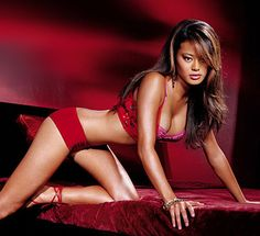 Jamie Chung on Bed