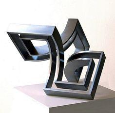 schwebende raumkonstruktion - Sculpture,  31x31x31 cm ©2015 par Nikolaus Weiler -                                                        Art abstrait, Métal, Art abstrait