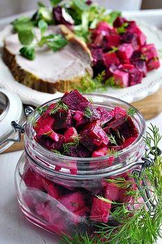 Sałatka z buraka i jabłka Raspberry, Strawberry, Side Dishes, Salads, Lunch Box, Fruit, Vegetables, Food, Diet