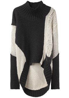 Helmut Lang / Turtleneck Pullover - I'm so ready for sweater weather! Knitwear Fashion, Knit Fashion, Look Fashion, Autumn Fashion, Womens Fashion, Black And White Outfit, Black White, Moda Crochet, Top Mode