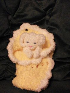 Cuddly lovey custom made also in pink, blue & multi colors.  Pattern also available!